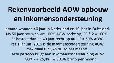 rekenvoorbeeld aow inkomensondersteuning